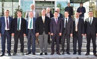 Sağlık Müdürü Sünnetçioğlu'na kurum müdürlerinden hayırlı olsun ziyareti