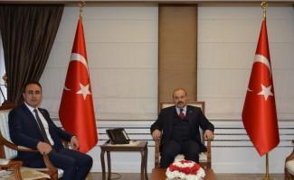 Trabzon Cumhuriyet Başsavcısı Tuncel'den Trabzon Valisi Ustaoğlu'na hayırlı olsun ziyareti