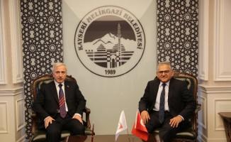 Vali Kamçı'dan  Başkan Büyükkılıç'a veda ziyareti