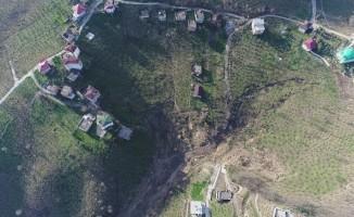 2 yıldır kayan mahalle, 350 fore kazıkla kurtarılacak