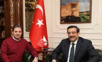Amed ve Diyarbekirspor'dan Başkan Atilla'ya ziyaret