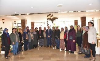 Başkan Kayda, Hasalanlı kadınları ağırladı