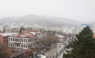 Çankırı il merkezinde kar yağışı başladı