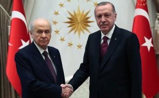 Cumhurbaşkanı Erdoğan-Bahçeli görüşmesi başladı