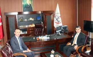 Eleşkirt Kaymakamı Sarı'dan Milli Eğitim Müdürü Tekin'e ziyaret