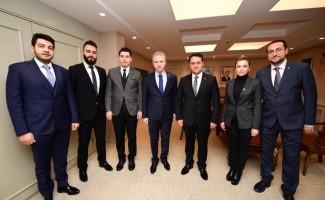 İMO yöneticileri Vali Davut Gül'ü ziyaret etti