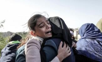 İsrail askerlerinin öldürdüğü 5 yaşındaki Abed son yolculuğuna uğurlandı
