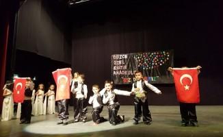 Özel Eğitim Anaokulu öğrencileri oynadı, anne ve babaları alkışladı