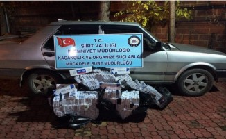 Siirt'te 3 bin paket kaçak sigara ele geçirildi