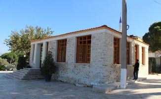 Söke Ağaçlı'da tarihi okul binası ayağa kaldırıldı