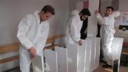 Üniversite öğrencilerinden köy okuluna kütüphane projesi