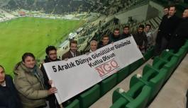 Bursaspor'un galibiyet sevincine ortak oldular