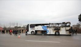 Hareket halindeki yolcu otobüsünde yangın çıktı