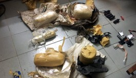 Suriye sınırında çok sayıda patlayıcı ele geçirildi