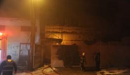 Bursa'da mobilya atölyesinde korkutan yangın