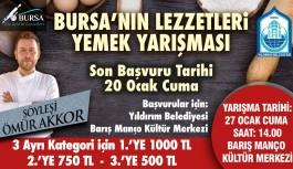 Bursa'nın lezzetli yemekleri yarışıyor