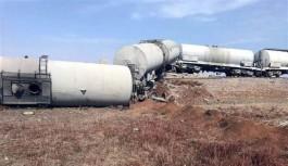 Tren raylarında şiddetli patlama
