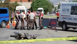 Antalya'da kazaya karışan motosiklet çalıntı çıktı