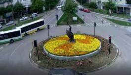 Bursa'da belediye otobüslerinin çarpışma anı kamerada