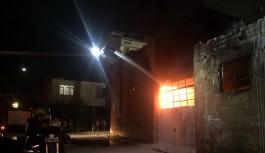 Arnavutköy'de boya fabrikasında yangın
