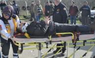 Bursa'da yaralıların imdadına itfaiye yetişti