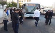 Halk otobüsü kamyona çarptı: 4 yaralı