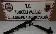 Tunceli'de roketatar ve silah ele geçirildi