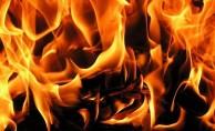 Askeri kışlada yangın çıktı