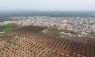 Afrin'in Cinderes beldesi havadan görüntüledi