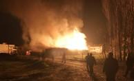Bursa'da fabrika alev alev yandı!