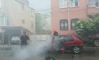 Bursa'da LPG'li araç yandı
