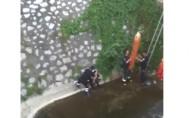 Bursa'da metrelerce yükseklikten düştü!