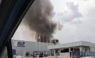 Havacılık firması fabrikasında yangın