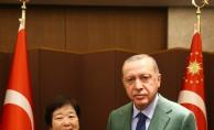 Koreli Ayla, Erdoğan ile buluştu