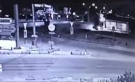 Muğla'daki kaza güvenlik kamerasına yansıdı