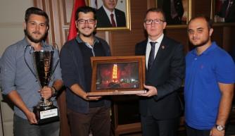 Genç mühendislerden Büyükşehir'e ziyaret