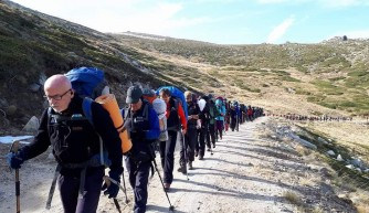 Bursa'da dağcılardan anma tırmanışı