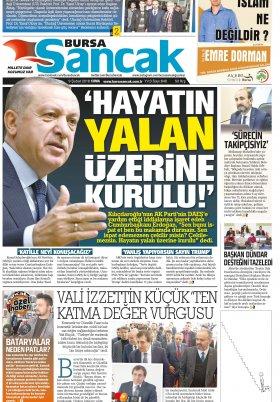 SANCAK GAZETESİ - 09.02.2018 Manşeti