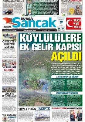 BURSA SANCAK GAZETESİ - 10.12.2018 Manşeti