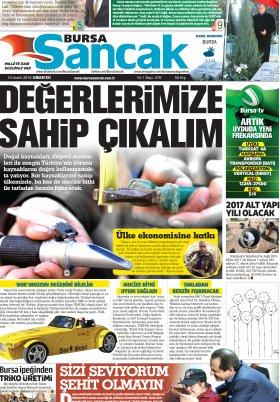 SANCAK GAZETESİ - 10.12.2016 Manşeti