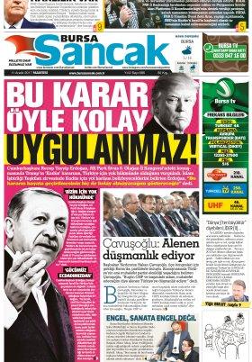 SANCAK GAZETESİ - 11.12.2017 Manşeti