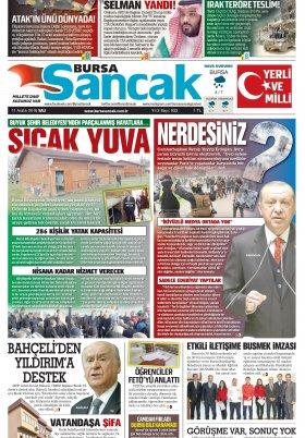 BURSA SANCAK GAZETESİ - 11.12.2018 Manşeti