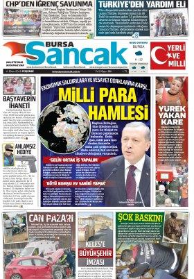 SANCAK GAZETESİ - 11.10.2018 Manşeti