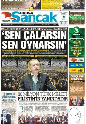 SANCAK GAZETESİ  - 12.12.2017 Manşeti