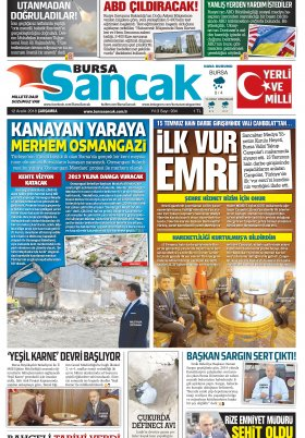 BURSA SANCAK GAZETESİ - 12.12.2018 Manşeti