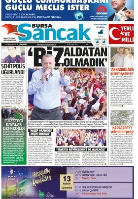 SANCAK GAZETESİ - 13.06.2018 Manşeti