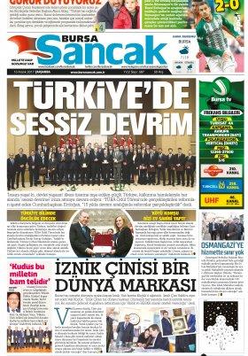 SANCAK GAZETESİ - 13.12.2017 Manşeti