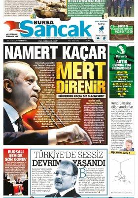 SANCAK GAZETESİ - 14.10.2017 Manşeti