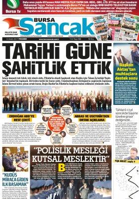SANCAK GAZETESİ- 14.12.2017 Manşeti