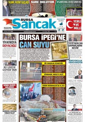 BURSA SANCAK GAZETESİ - 16.10.2018 Manşeti